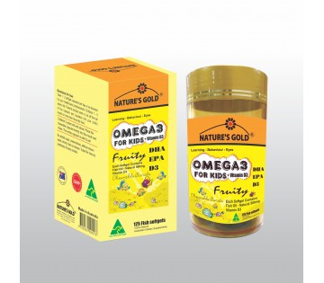 Omega3 For Kids DHA ERP VitaminD3 - 125s